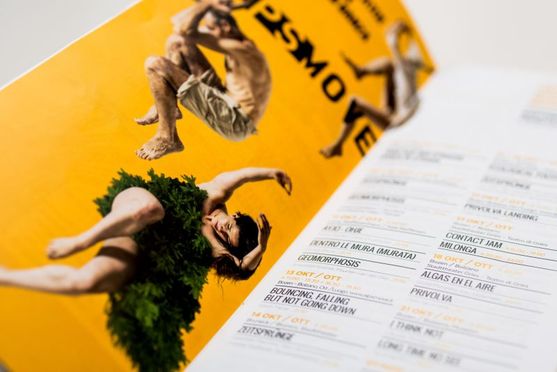 Brochure eventi calendario danza