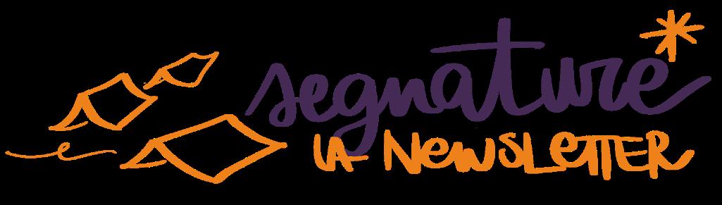 newsletter saralarossi segnature